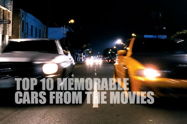 Top 10 Memorable cars from the movies